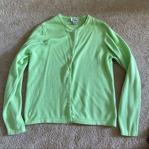 Lovely Lime Green Lilly Pulitzer Cotton Cardigan
